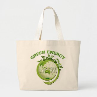 GREEN ENERGY NOW zazzle_bag