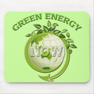 GREEN ENERGY NOW MOUSE PAD