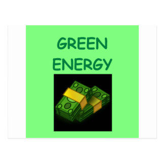 green energy post cards
