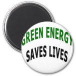 Green Energy Saves Lives Magnets