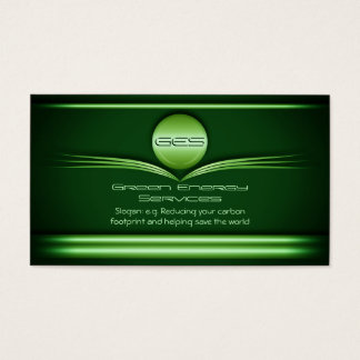 Green Energy Services - Metal Disc and Flourishes Business Card