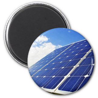 Green Energy Solar Power 2 Inch Round Magnet