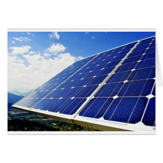 Green Energy Solar Power Greeting Cards