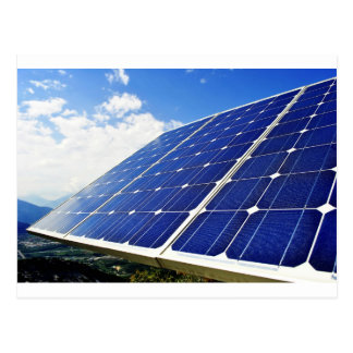 Green Energy Solar Power Postcard