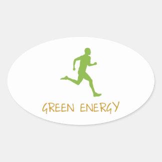 Green Energy Oval Sticker
