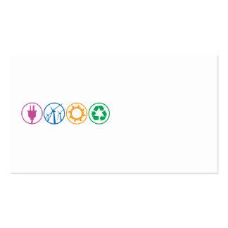 Green Energy Symbols Business Card