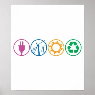 Green Energy Symbols Poster