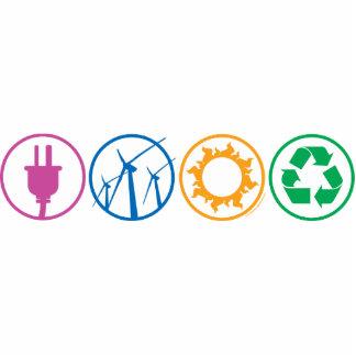 Green Energy Symbols Statuette