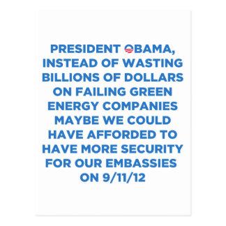 Green Energy Waste Postcard