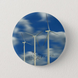 Green Energy Wind Turbine Button