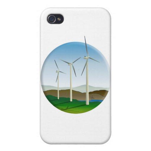 Green Energy Wind Turbine iPhone 4/4S Cover