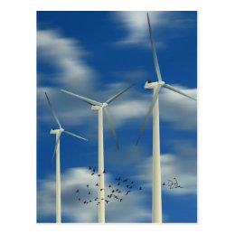 Green Energy Wind Turbine Postcard