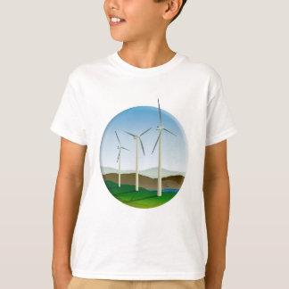 Green Energy Wind Turbine T-Shirt