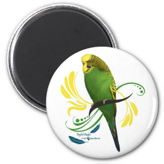 Green English Budgie Magnet