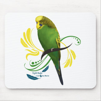 Green English Budgie Mouse Pad