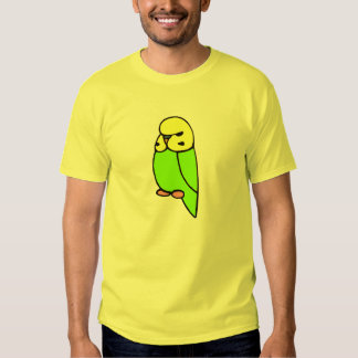 Green English Budgie T Shirt