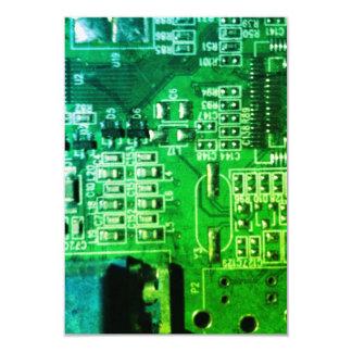 green enhanced circuit board design card