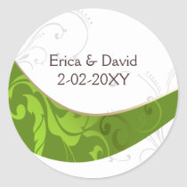 green envelope seal