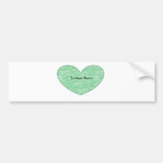 Green Envious Heart Bumper Sticker