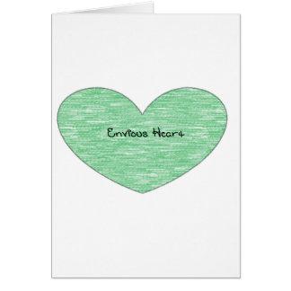 Green Envious Heart Card