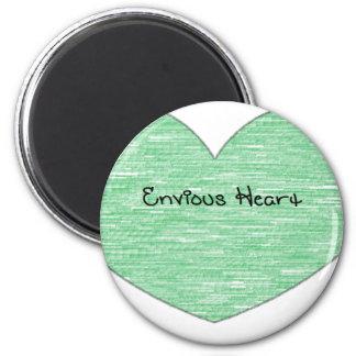 Green Envious Heart Magnet