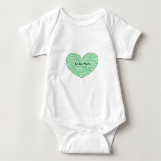 Green Envious Heart Tee Shirt