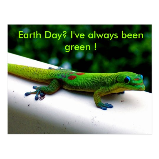 Green Environment Conservation Humor Postcard