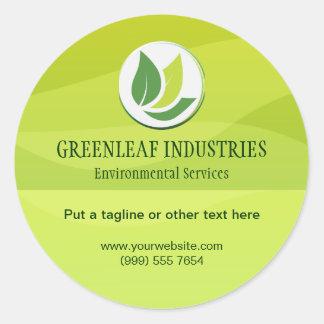 Green Environmental Business Sticker