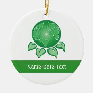 Green, Environmental Ceramic Ornament
