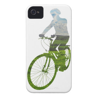 green, environmentally friendly transport iPhone 4 cover