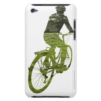 green, environmentally friendly transport iPod touch case