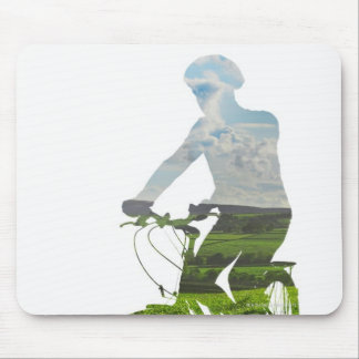 green, environmentally friendly transport mouse pad