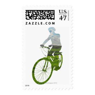 green, environmentally friendly transport postage