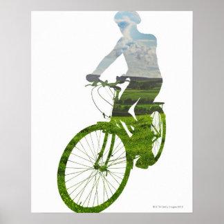 green, environmentally friendly transport poster