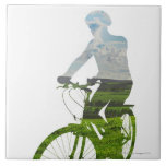 green, environmentally friendly transport large square tile