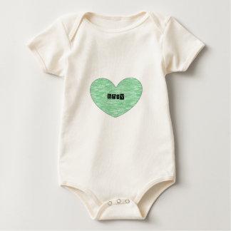 Green Envy Heart Baby Bodysuit
