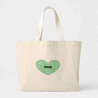 Green Envy Heart Bags