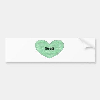 Green Envy Heart Bumper Sticker