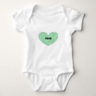 Green Envy Heart Infant Creeper