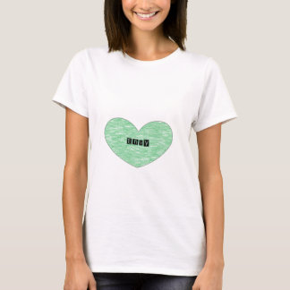 Green Envy Heart T-Shirt