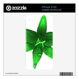 Green Envy Lily iPhone 4S Skins