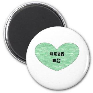 Green Envy Me Heart Magnet