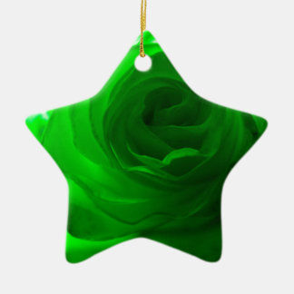 Green Envy Rose.jpg Ceramic Ornament
