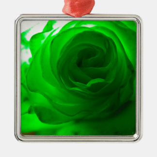 Green Envy Rose.jpg Metal Ornament