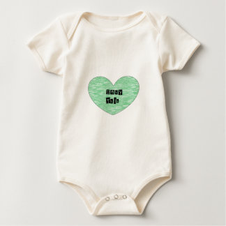 Green Envy This Heart Baby Bodysuit