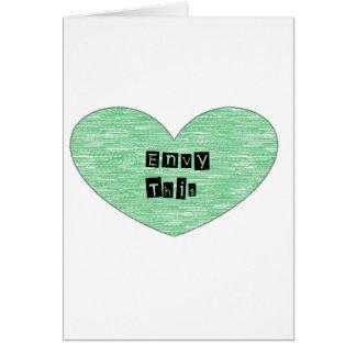 Green Envy This Heart Card