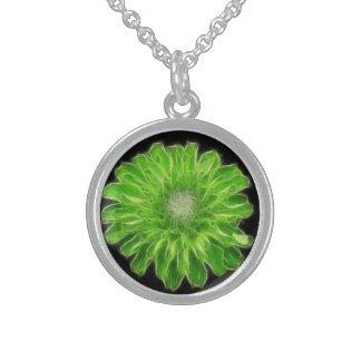 Green Envy Zinnia Pendant