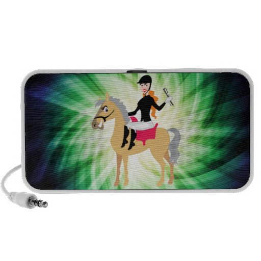 Green Equestrian Girl iPod Speakers