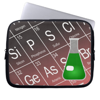 Green Erlenmeyer (Conical) Flask Chemistry Computer Sleeve