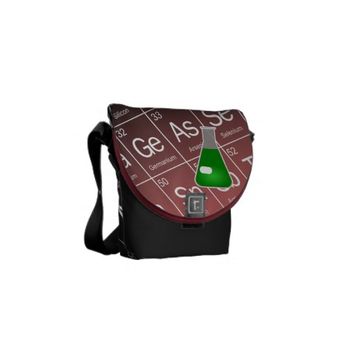 Green Erlenmeyer (Conical) Flask Chemistry Courier Bag